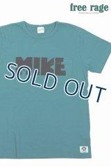 「FREE RAGE/フリーレイジ」MIKEプリントリサイクルコットンTシャツ【ターコイズ】